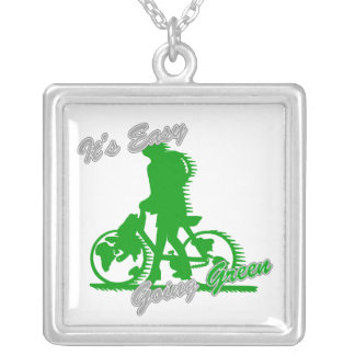 Es la bicicleta verde tolerante 2 collares personalizados