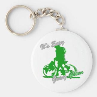 Es la bicicleta verde tolerante 2 llaveros