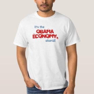 ¡Es la economía de Obama, estúpida! Playeras