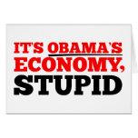 Es la economía de Obama estúpida Tarjeta De Felicitación