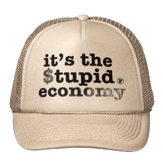 Es la economía estúpida gorras