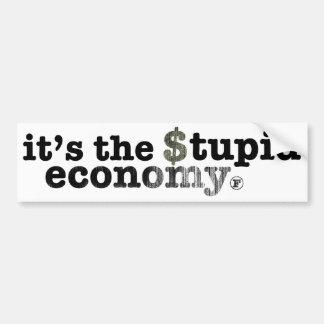Es la economía estúpida pegatina para auto
