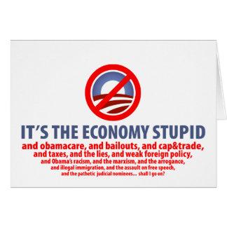 Es la economía estúpida… tarjeta de felicitación