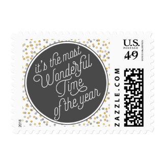 Es la época más maravillosa del año sello postal