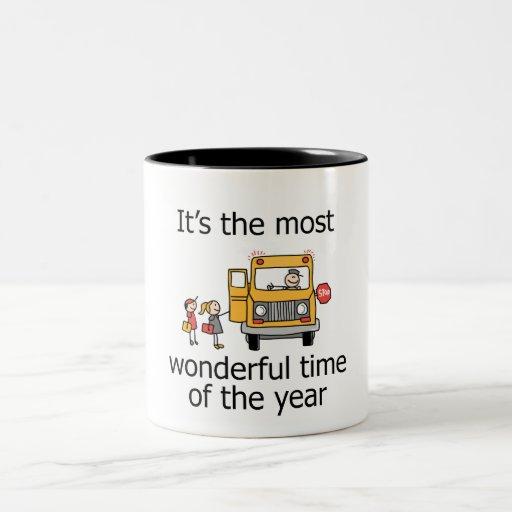 Es la época más maravillosa del año taza de café