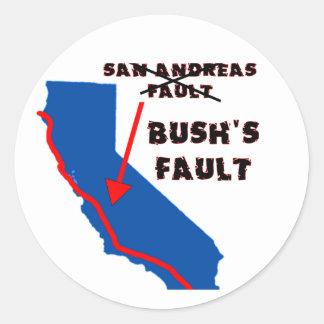 Es la falta de Bush Etiquetas Redondas