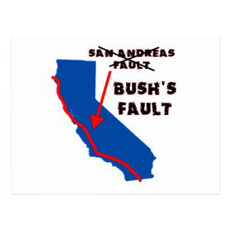 Es la falta de Bush Tarjetas Postales