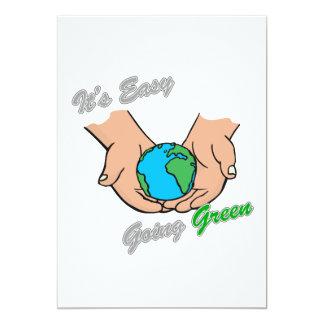 """Es la luz verde tolerante 2 de las manos invitación 5"""" x 7"""""""