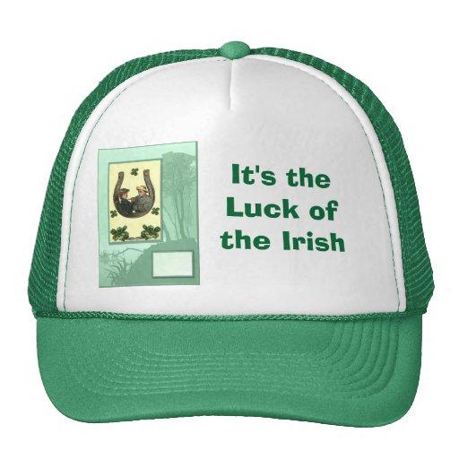 Es la suerte del irlandés gorro