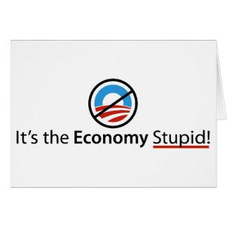 Es la tarjeta estúpida de la economía