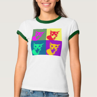 ¡Es lanza del estallido-arte en una camiseta! Playera
