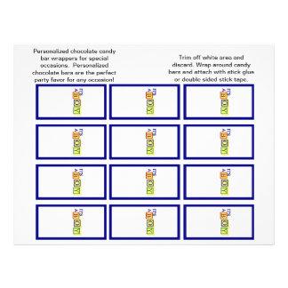 Es las envolturas de un Candybar del muchacho pri Flyer Personalizado