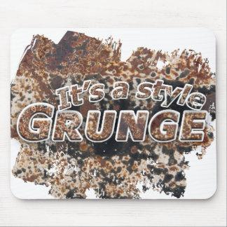 Es letras oxidadas De un GRUNGE del estilo Tapetes De Raton