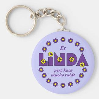 Es Linda, pero Llavero Redondo Tipo Pin
