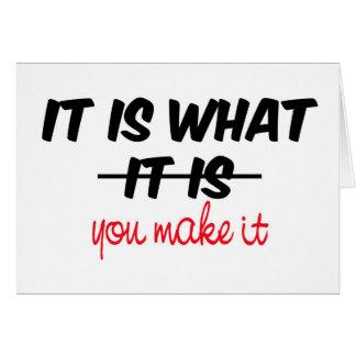 Es lo que is/you le hace tarjetas