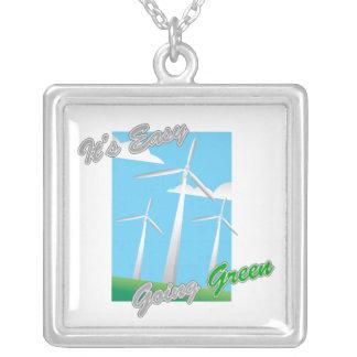 Es los molinoes de viento verdes tolerantes 2 joyeria personalizada