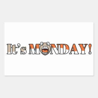 ¡Es lunes! Pegatina Rectangular