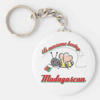 Es Madagascan beeing impresionante Llavero Redondo Tipo Pin