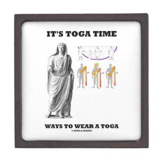 Es maneras del tiempo de la toga llevar una toga cajas de recuerdo de calidad