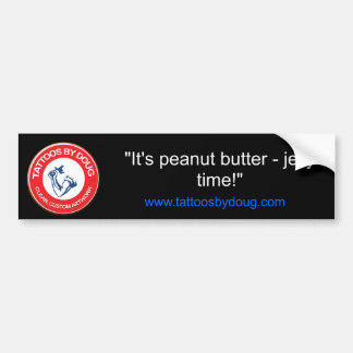 """¡""""Es mantequilla de cacahuete - gelatine el tiempo Pegatina Para Auto"""