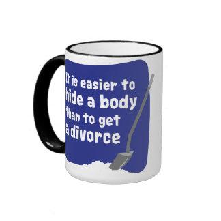 Es más fácil ocultar un cuerpo taza de café