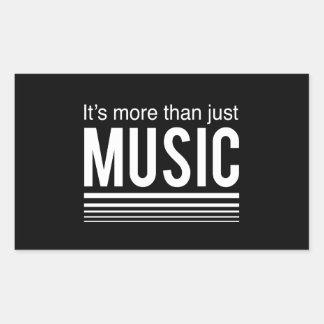 Es más que apenas música rectangular pegatinas