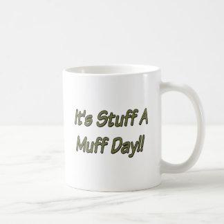 Es materia al día del manguito taza de café