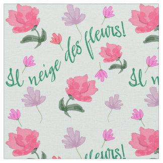 Es materia textil francesa del poema de las flores telas