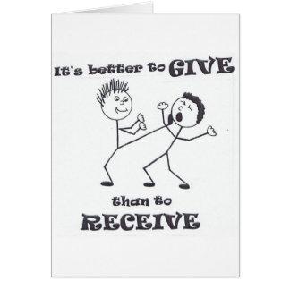 Es mejor dar, que recibir tarjeta de felicitación