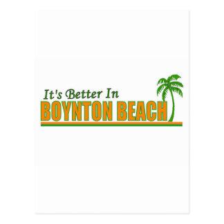 Es mejor en la playa de Boynton Postal