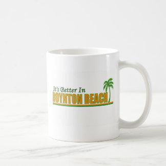 Es mejor en la playa de Boynton Taza