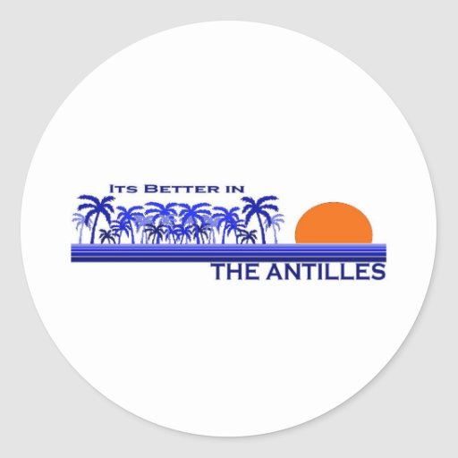 Es mejor en las Antillas Pegatina Redonda