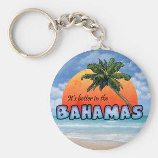 Es mejor en las Bahamas Llavero Redondo Tipo Pin