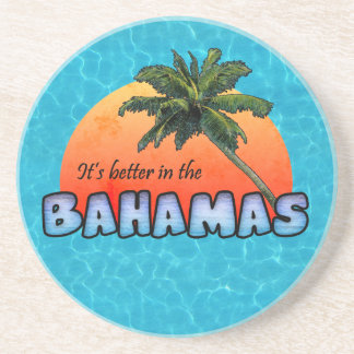 Es mejor en las Bahamas Posavasos Diseño