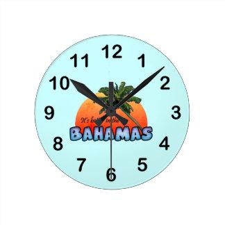 Es mejor en las Bahamas Reloj Redondo Mediano