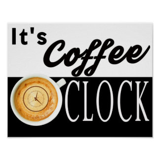 es mensaje del inconformista de la taza del reloj póster