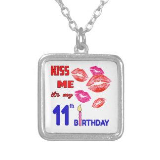 Es mi 11mo cumpleaños colgante cuadrado