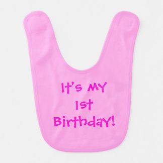 ¡Es mi 1r cumpleaños! Babero adaptable