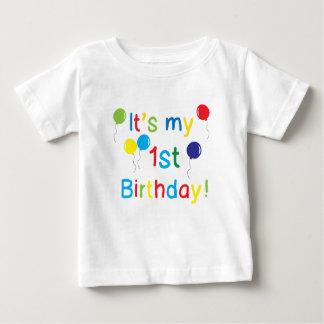 Es mi 1r cumpleaños playera de bebé