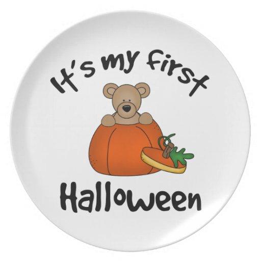 Es mi 1r Halloween Platos Para Fiestas
