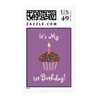 Es mi 1ra magdalena del chocolate del cumpleaños sellos