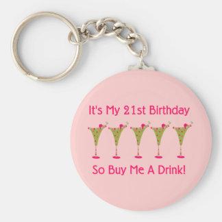 Es mi 21ro cumpleaños llaveros personalizados