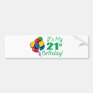 Es mi 21ro cumpleaños (los globos) pegatina para auto