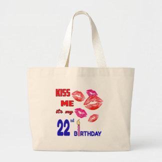 Es mi 22do cumpleaños bolsa tela grande