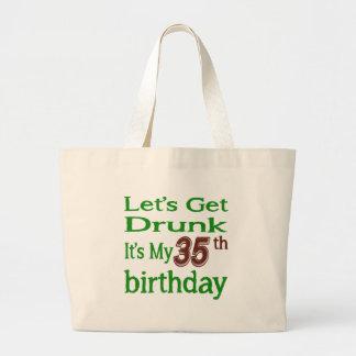 Es mi 35to cumpleaños bolsa tela grande