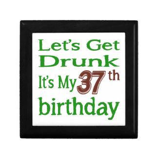 Es mi 37.o cumpleaños joyero cuadrado pequeño