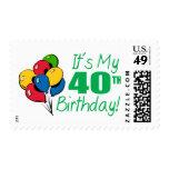 Es mi 40.o cumpleaños (los globos) sellos