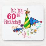 Es mi 60.o cumpleaños (los gorras del fiesta) tapete de ratones