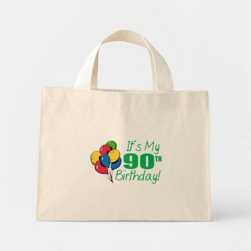 Es mi 90.o cumpleaños (los globos) bolsas