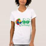 Es mi 90.o cumpleaños (los globos) camiseta